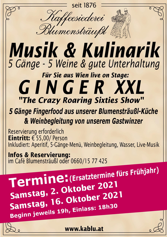 Musik - Kulinarik 2021 fixe Termine Herbst