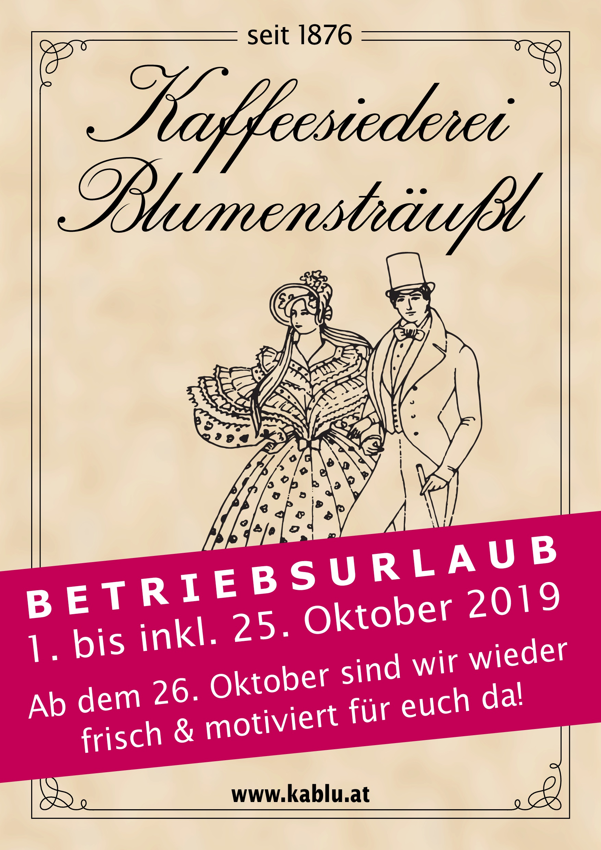 Betriebsurlaub Café 2019