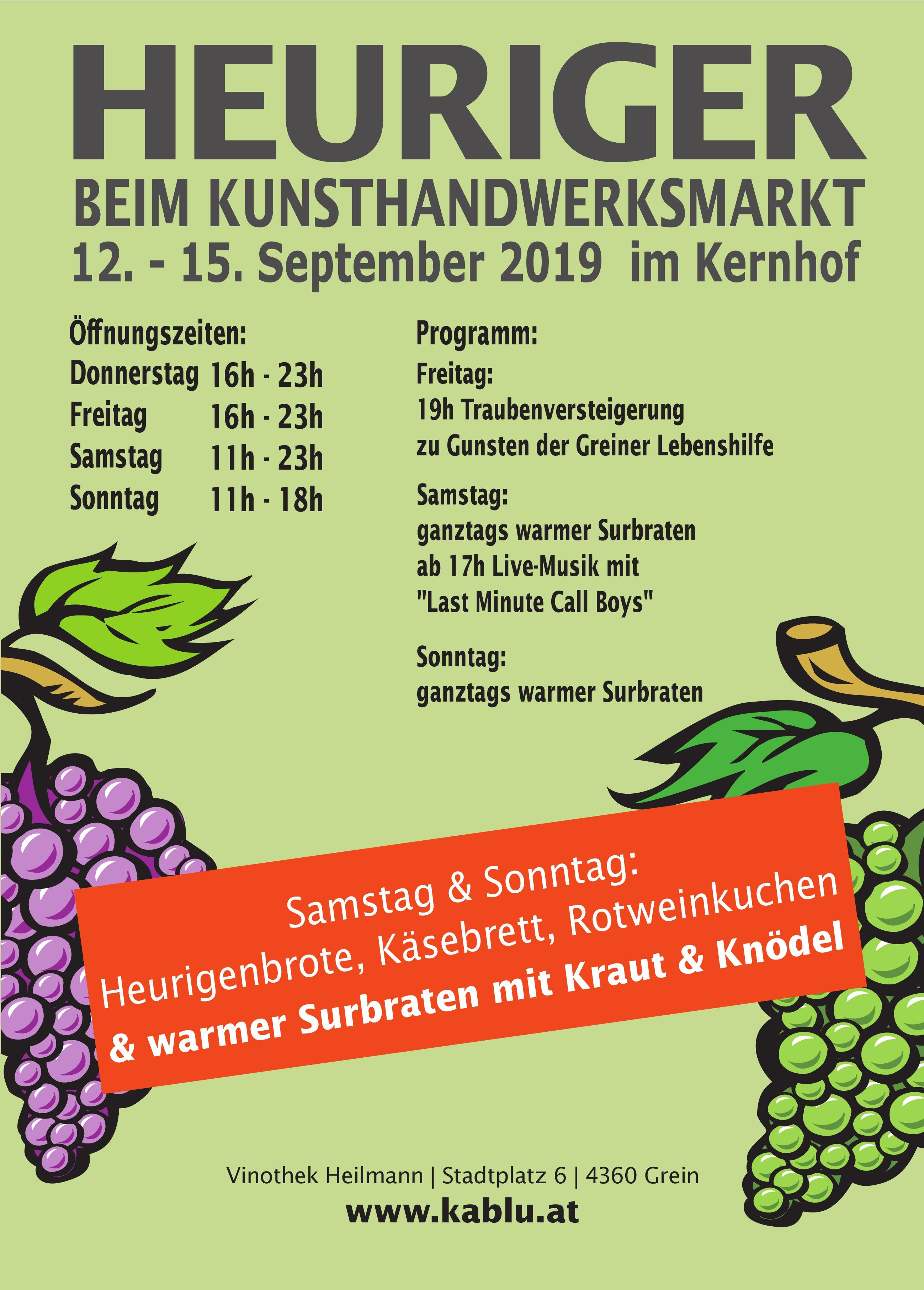 Heuriger Kunsthandwerksmarkt 2019