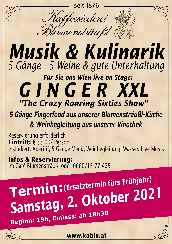 Musik - Kulinarik 2021 fixer Termin Herbst